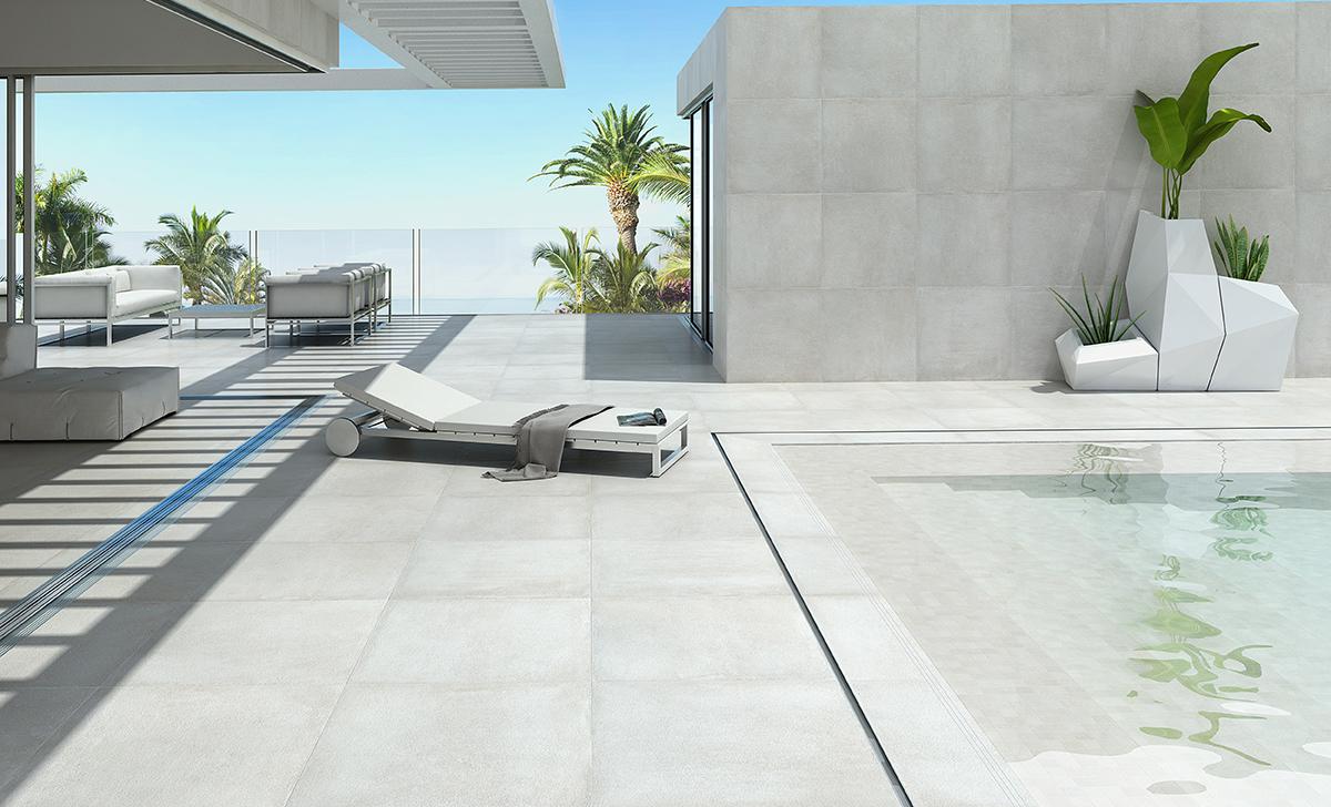 revêtement de sol aspect béton pour l'extérieur et piscine Sols Concept Gardanne