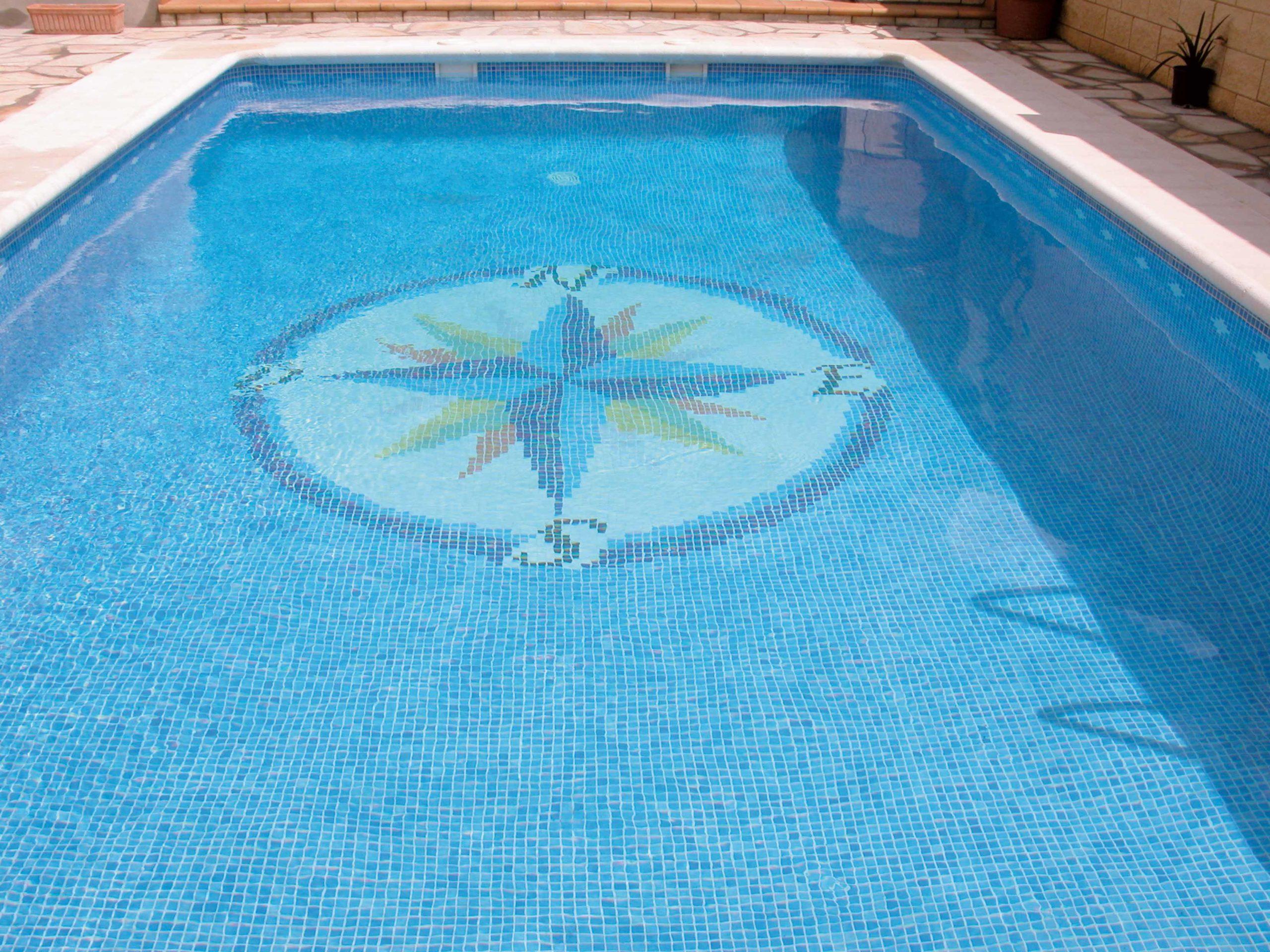 Mosaïque piscine réalisation Sols Concept - marins mosavit
