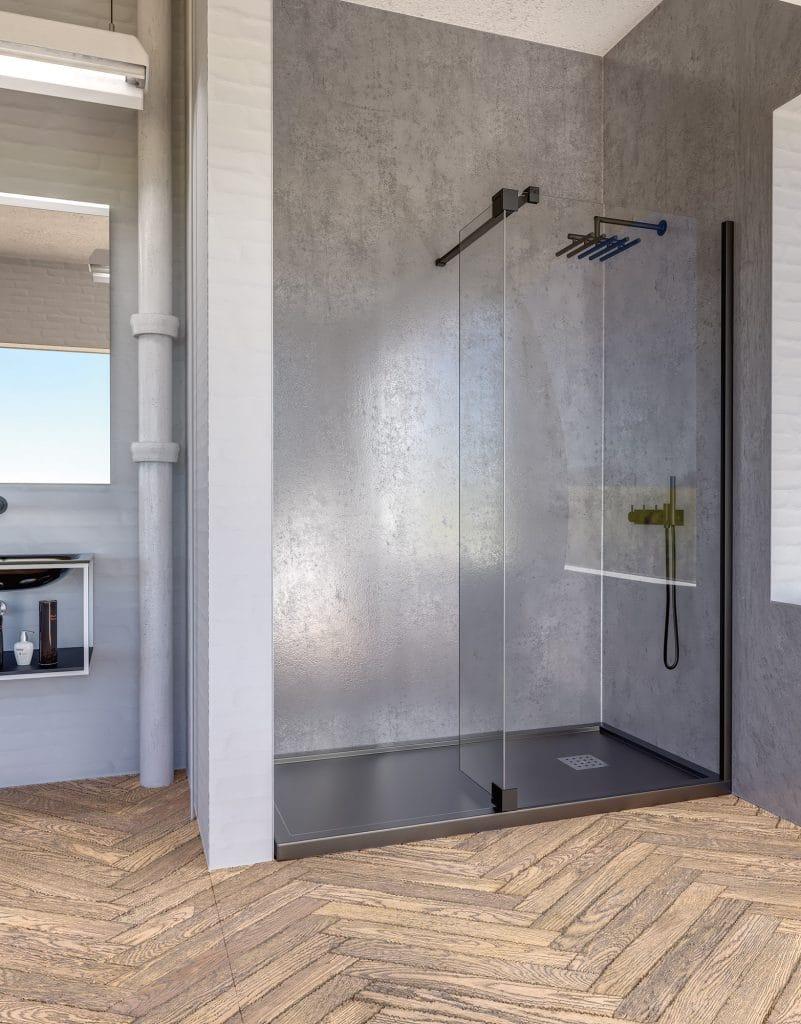 Paroi de douche salle de bains sols concept gardanne