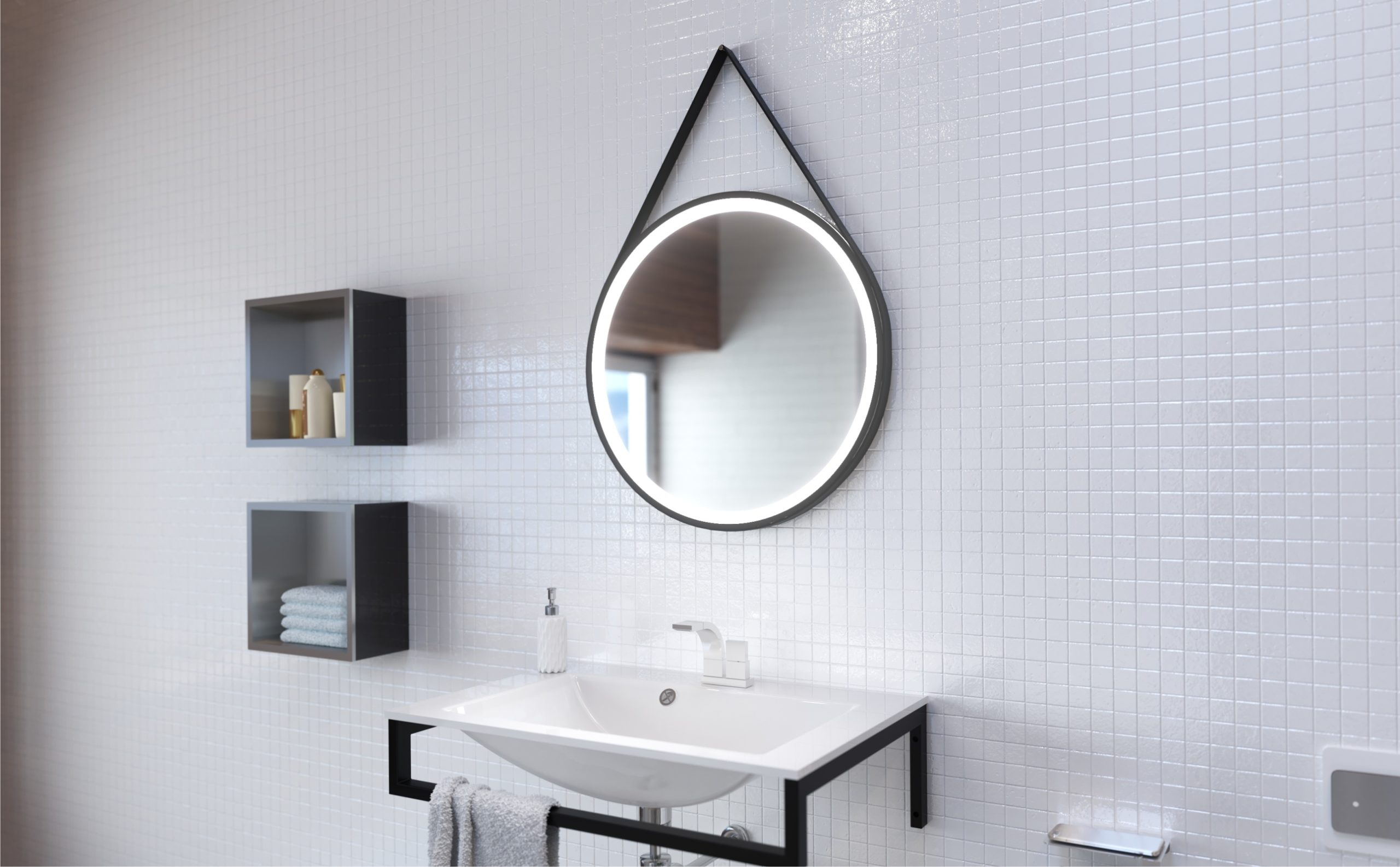 Miroir salle de bains sols concept meyreuil
