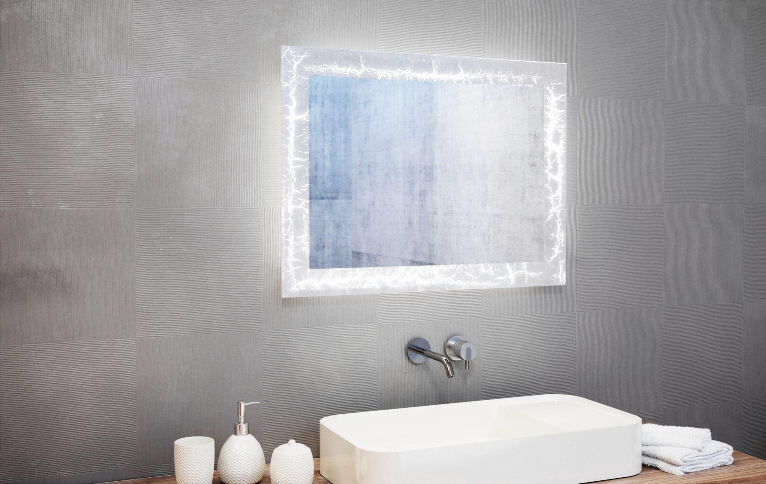Miroir de salle de bains sols concept plan de campagne